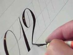 How to write Numbers in Copperplate Style