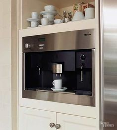 Best More Design Build Built In Coffee Station With Miele 400 x 300