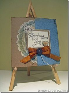 card by Julie Carriere using CTMH Florentine paper
