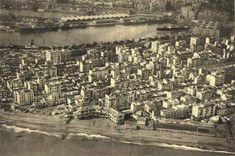 Vista des de l'aire de la Barceloneta. 1920-1930