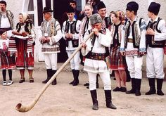 Romanian folk traditions (music, folkdances, and traditional costumes) are highlighted on this website. Folk Costume, Costumes, Romania People, Romanian Girls, Festivals Around The World, International Festival, Moldova, Europe, Folk Music
