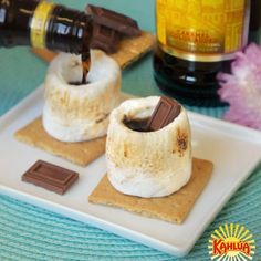 No backyard bonfire is complete without s'mores…and now things just got even better thanks to a bit of Kahlua! Enjoy this fun summer dessert at your July 4th party!