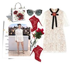 """""""Oui Cannes do it: Lace"""" by harperleo ❤ liked on Polyvore featuring Post-It, Hanky Panky, Gucci and Dolce&Gabbana"""