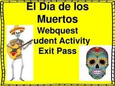 This is a webquest that can be done on any computer with internet access. There are 14 tiered questions surrounding the holiday which are in English. There is an activity where students are prompted to write their own Day of the Dead webquest questions.