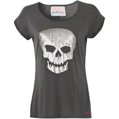 Pauls Boutique Skull T-Shirt ($48) found on Polyvore
