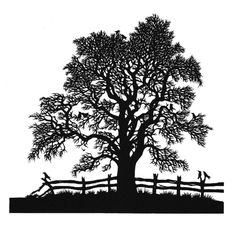 Tree Silhouette, Black And White Vector Shape Stock Vector - Illustration of leaf, drawing: 27903099 Silhouette Painting, Tree Silhouette, Silhouette Cameo Projects, Book Sculpture, Steel Sculpture, Tree Stencil, Stencils, Charro, Shadow Art