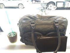 Adrienne Shoulder Bag in soft blue and Liebeskind Cosmetic Bag. #spring2015 #leather #liebeskindus #liebeskind #bag