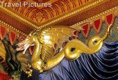 Brighton Pavilion Music Room Oriental Art Gilt Gilded Gold Dragon Detail
