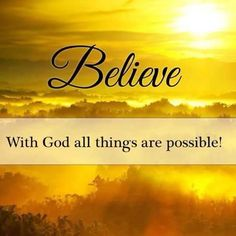 """Matthew 19:26 says,""""With man this is impossible, but with God all things are possible."""" What do you suppose the word possible means? IT CAN BE DONE! With men, Jesus says it can't be done. But with God, whatever it is can be done! #God #GodisGood #Jesus #JesusChrist #faith #grace #hope #possible #nothingisimpossible #newlife #change #new #life #miracles #blessings #testimonies #testimony #truth #proof #Godexists #Godisreal #live #alive #inspiration #encouragement #christianity #Bible #amen"""