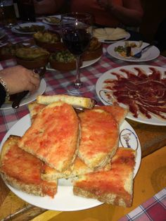 Tapas in Spain Food Service, Tapas, French Toast, Spain, Breakfast, Tableware, Morning Coffee, Dinnerware, Dishes