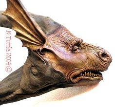 ORIGINALWOOD SPIRIT CARVING DRAGON GARGOYLE CREATURE * MONSTER OOAK NANCY TUTTLE