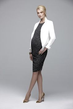 Great Maternity Wear for Work - A Pea in the Pod Sleeveless Ruched Maternity Dress