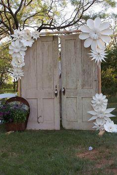 Huge paper-flowers decorations. https://www.etsy.com/listing/106065658/paper-flower-paper-ornament-handmade?utm_source=Pinterest&utm_medium=PageTools&utm_campaign=Share