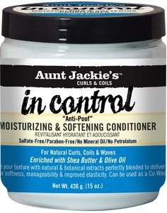 "Aunt Jackie's in control """"Anti-Poof"""" Moisturizing & Softening Conditioner 15 Ounce"