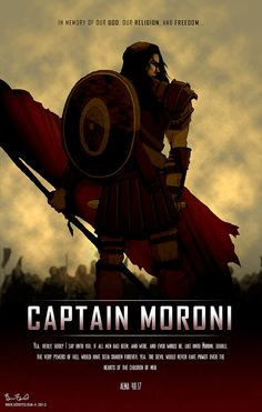 Captain Moroni With Title Of LIberty Poster From The LDS Book Mormon Scripture Alma Is Great For Teens