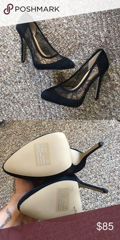 French Connection Lace Heels Super adorable Designer Lace Heels never worn 😍. Will TRADE for another designer item of equal or little lesser price 😘 French Connection Shoes Heels