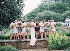 Photography : Laura Leslie Photography   Wedding Dress : Nicole Miller  Read More on SMP: http://www.stylemepretty.com/2015/06/24/elegant-romantic-garden-wedding/