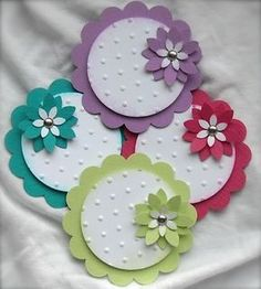 Embellishments   Embellishments   CARDS. Scallop circle punch