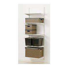 "ALGOT Wall upright/shelves - 25 5/8x15 3/4x77 1/8 "" - IKEA"