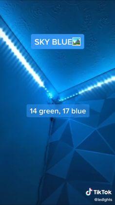 how to make sky blue🌌 room led led lights Led Room Lighting, Room Lights, Strip Lighting, Led Light Strips, Led Strip, Neon Room, Aesthetic Room Decor, Blue Aesthetic, Blue Led Lights