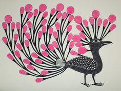 """""""Bird with Red Plumage"""" by Kenojuak Ashevak                                                                                                                                                                                 More"""