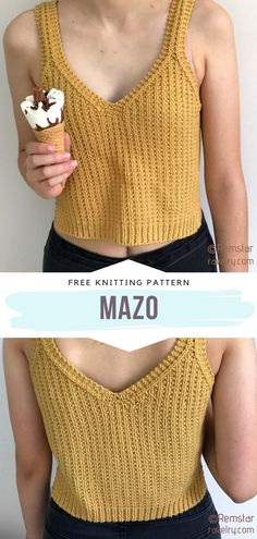 Easy Knitting Patterns, Free Knitting, Start Knitting, Free Crochet Top Patterns, Knitting Beginners, Sweater Patterns, Knitting Ideas, Knitting Needles, Crochet Pattern