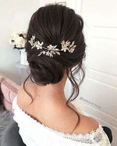 Beautiful updo Hairstyles For A Romantic Bride - Beautiful messy braids and updo. - - Beautiful updo Hairstyles For A Romantic Bride - Beautiful messy braids and updo hairstyle,Textured updo. Bridal Hair Updo, Bridal Hair And Makeup, Wedding Updo, Hair Makeup, Wedding Hijab, Boho Wedding, Wedding Simple, Bridal Beauty, Wedding Dresses