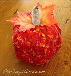 Oh-so-Cute Toilet Paper Pumpkin Craft!