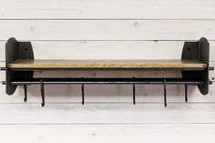 Items similar to Pickled Steel Hub Shelf w/ Rods and Hooks on Etsy