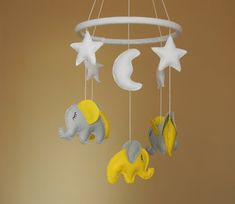 Elephant Baby Mobile, mothers day gift, Baby Crib Mobile Elephant , Nursery…