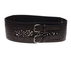Herebuy - Vintage Leather Elastic Waist Belt Fashion Wide Belts for Women (Black) at Amazon Women's Clothing store: