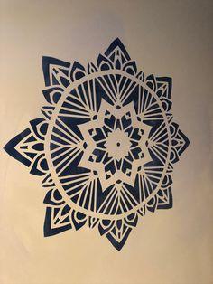 Stencil Wall Art, Custom Stencils, Sculpture, Geometric Designs, Mandala Art, Body Art Tattoos, Geometry, Art Projects, Mixed Media