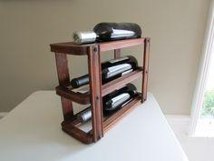Small Wood Wine Rack Vintage Sewing Machine by SalvageAndSpruce, $40.00