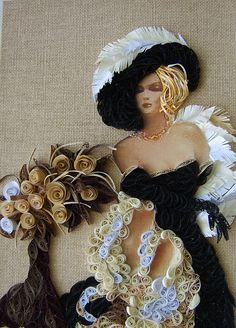 quilling art: female characters in the wonderful paper art - crafts ideas - crafts for kids Arte Quilling, Paper Quilling Designs, Quilling Paper Craft, Quilling Patterns, Paper Crafts, Quilling Ideas, Band Kunst, Baby Dekor, Quilled Creations
