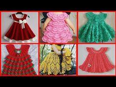 Most beautiful handmade crochet baby frock designs collection Crochet Baby Dress Free Pattern, Crochet Doll Dress, Baby Girl Dress Patterns, Baby Blanket Crochet, Baby Patterns, Crochet Patterns, Filet Crochet, Baby Frocks Designs, Frocks For Girls