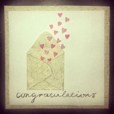 Engagement / wedding card. Handmade by Victoria.