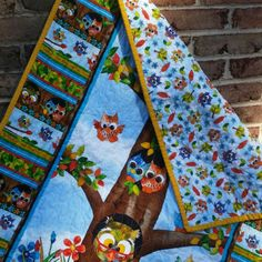 New woodland and owl quilt for that gender neutral nursery