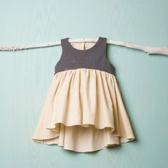 Dress shoulder straps in corduroy and gray point by Popelin