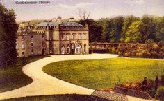 CASTLECOMER HOUSE, Co Kilkenny.The original Castlecomer House, the family seat of the Wandesfordes, was built in 1638. It was burned down during the battle of Castlecomer in 1798. A replacement and larger house was constructed on the site in 1802. Lying largely empty during the 1960s and 70s, most of the building was demolished in 1975. Nothing now remains of the house. Large Homes, Empty, Ireland, 1960s, Irish, Larger, Castle, Mansions, History