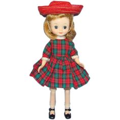 1959 American Character Betsy McCall Doll in Holiday Outfit Blond 8 Inch