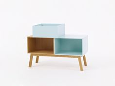 Sideboard in Holz und Mint / sideboard in wood and mint / Buffet en bois et menthe Sideboard Buffet, Credenza, Furniture Design, Cabinet, Storage, Modern, Mint, Home Decor, Products