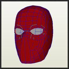DC Comics - Red Hood Mask for Cosplay Free Papercraft Download - http://www.papercraftsquare.com/dc-comics-red-hood-mask-cosplay-free-papercraft-download.html