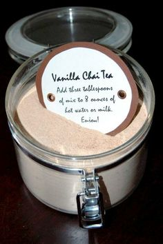 Vanilla Chai drink mix. Hopefully. Cheaper than a Starbucks habit...