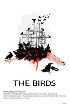 Great poster for the film The Birds by Alfred Hitchcock hitchcock halloween Minimal Movie Posters, Horror Movie Posters, Minimal Poster, Cinema Posters, Cool Posters, Horror Movies, The Birds Movie, Alfred Hitchcock The Birds, Tv Movie
