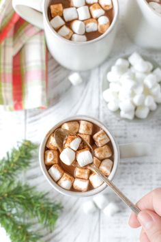 This easy dairy free hot chocolate recipe uses a mix of coconut and almond milk for creamy homemade cocoa perfect for the holidays. Vegan and paleo friendly! #dairyfree #hotchocolate Sugar Free Desserts, Great Desserts, Dessert Recipes, Dairy Free Hot Chocolate, Hot Chocolate Recipes, Dairy Free Milk, Lactose Free, Dairy Free Recipes, Veggie Recipes