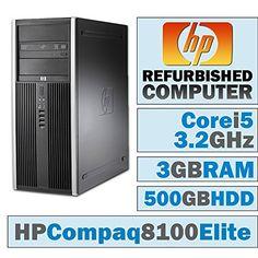 HP Compaq 8100 Elite CMTCore i5650  32 GHz3GB DDR3500GB HDDDVDRWWINDOWS 7 PRO 32 BIT *** For more information, visit image link.