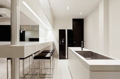 Luxury white kitchen, designed by Tidtangstudio