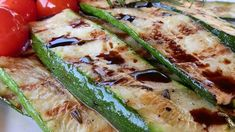 Grilled Zucchini Ingredients• 1/3 cup extra-virgin olive oil • 1 teaspoon sea salt • 2 cloves garlic, minced • 1 tablespoon chopped fresh rosemary • ½ teaspoon ground black pepper • 6 small zucchini, sliced lengthwise into ¼-inch thick strips • 3...