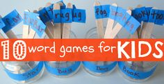 10 Fun Word Games For Kids - have fun with words all summer long!