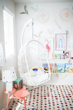 40 Girl\'s Bedroom Ideas With An Awesome Play Space Playroom Paint Colors, Colorful Playroom, Girl Room, Girls Bedroom, Walmart Home, Baby Playroom, Playroom Furniture, Playroom Organization, Home Decor Bedroom